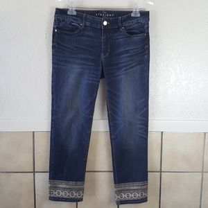 White house Black Market The straight crop Jeans 8